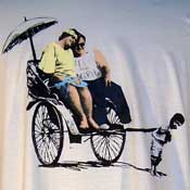 Banksy Rickshaw Kid Shirt