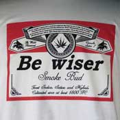 Be Wiser Smoke Bud T-Shirt
